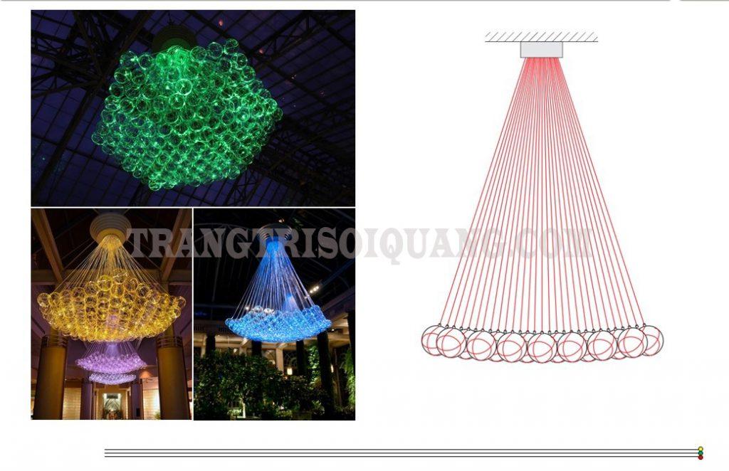 Sản phẩm đèn chùm sợi quang lấy phong cách Châu Âu cổ điển làm nền tảng. Từ đó tạo ra một chiếc đèn chùm pha lê sợi quang độc đáo. Những sợi quang phát ra nguồn ánh sáng rực rỡ cho đèn chùm. Với những thiết kế tinh tế. Đèn chùm pha lê là sự lựa chọn hoàn mỹ nhất cho không gian phòng của bạn.
