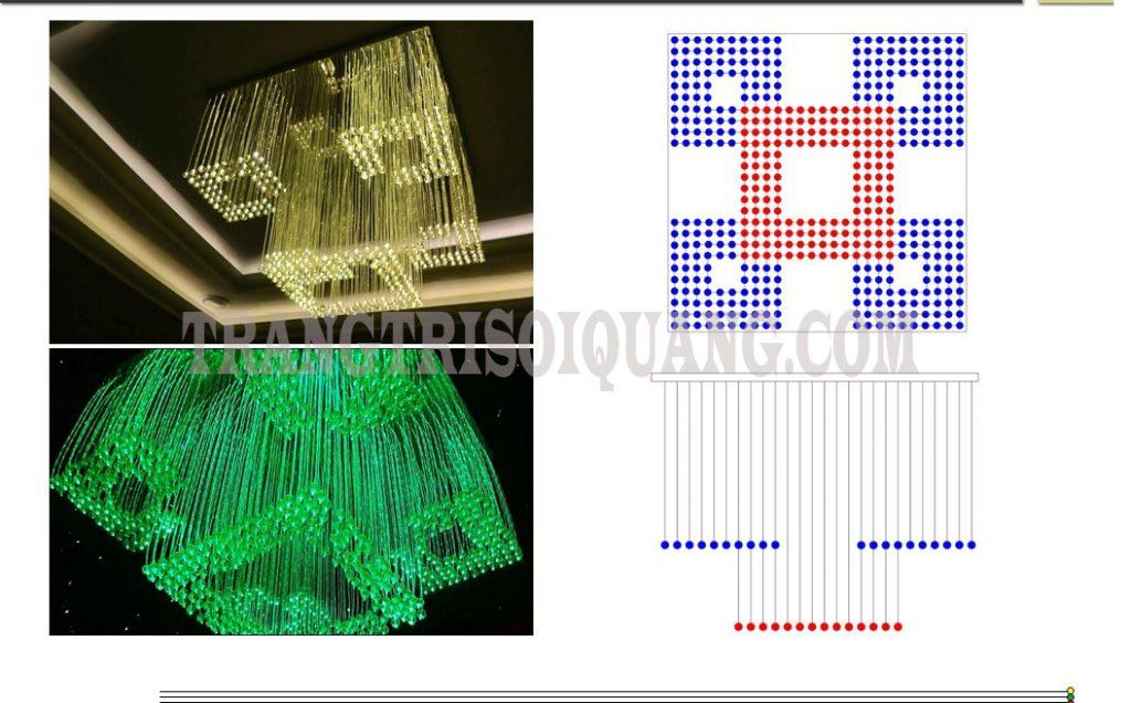 Lấy cảm hứng thiết kế từ công nghệ sợi quang, đèn sợi quang được cấu hình tinh tế, sang trọng, với nhiều hình mẫu khác nhau tùy thuộc yêu cầu của quý khách. Với những đặc điểm nổi bật, nguồn sáng lung linh, đèn chùm sợi quang thích hợp là sự lựa chọn tối ưu cho việc trang trí không gian nhà, kinh doanh của khách hàng. Sản phẩm hiện đại làm tăng tính thẩm mỹ cao