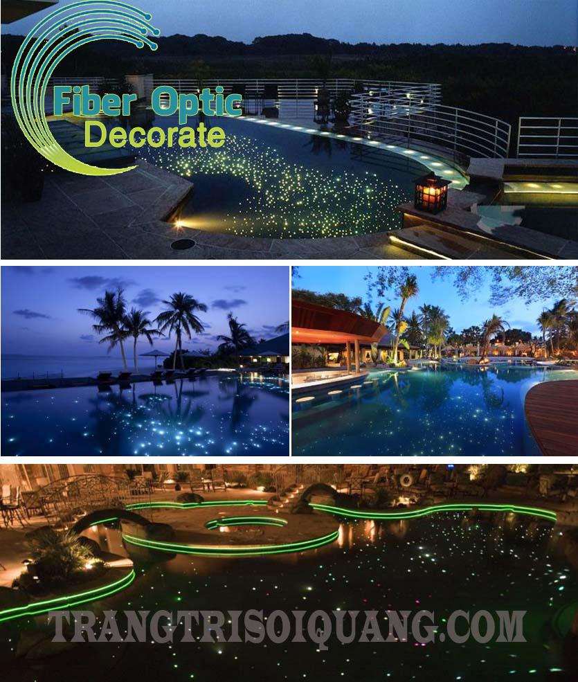 Hiệu ứng sao dưới bể bơi là một sản phẩm độc đáo được thiết kế dựa trên công nghệ chiếu sáng bằng sợi quang. Hiệu ứng sao dưới bể bơi mô phỏng hàng trăm, hàng nghìn điểm sao sáng lấp lánh trên bầu trời được lồng dưới đáy bể bơi. Tất cả làm nên một không gian thư giãn thật lung linh, độc đáo.