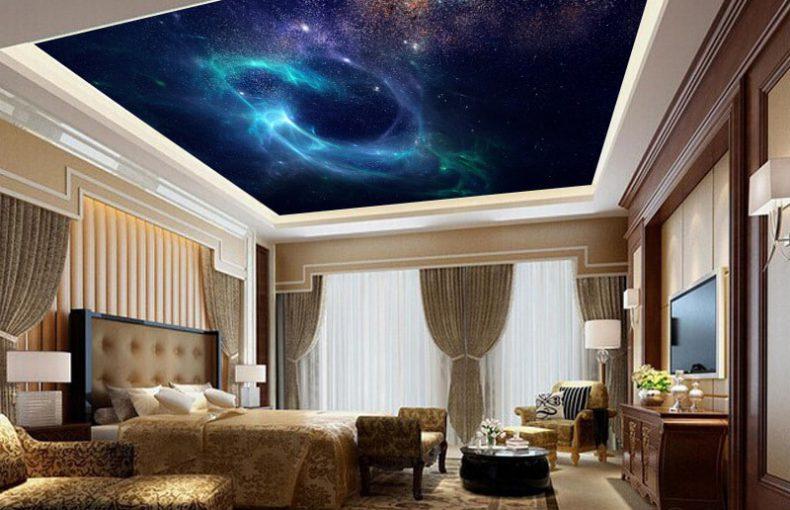 trần ánh sao phòng ngủ
