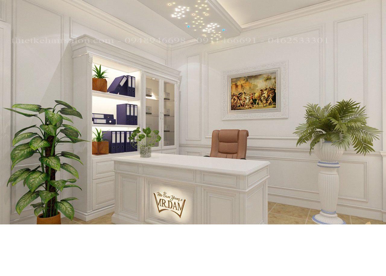 Trần sao spa Beauty Clinic tạo điểm nhấn với trần thạch cao trắng, phá vỡ không gian đơn điệu thay vào đó là trần sao nhân tạo với thiết kế độc đáo, mới lạ. Mang cả bầu trời đêm vào không gian Spa, tạo cảm giác thư giãn, thoải mái cho quý khách hàng khi đến với dịch vụ của bạn.