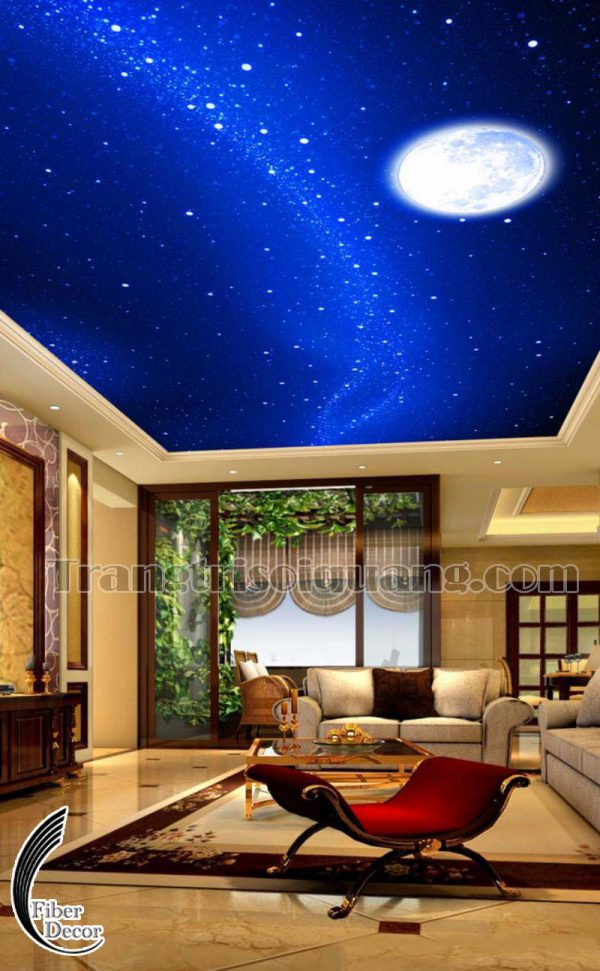 Trang trí trần sao phòng khách